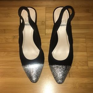 "Impo Shoes - Sparkly 2"" black heels Impo Stretch Vanessa"